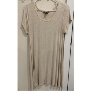 Cream Tee Shirt Dress